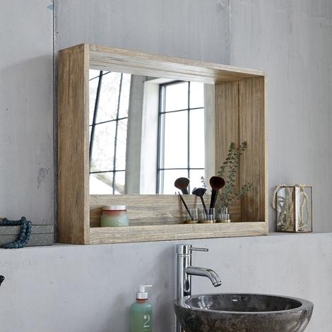 miroir salle de bain avec rangement