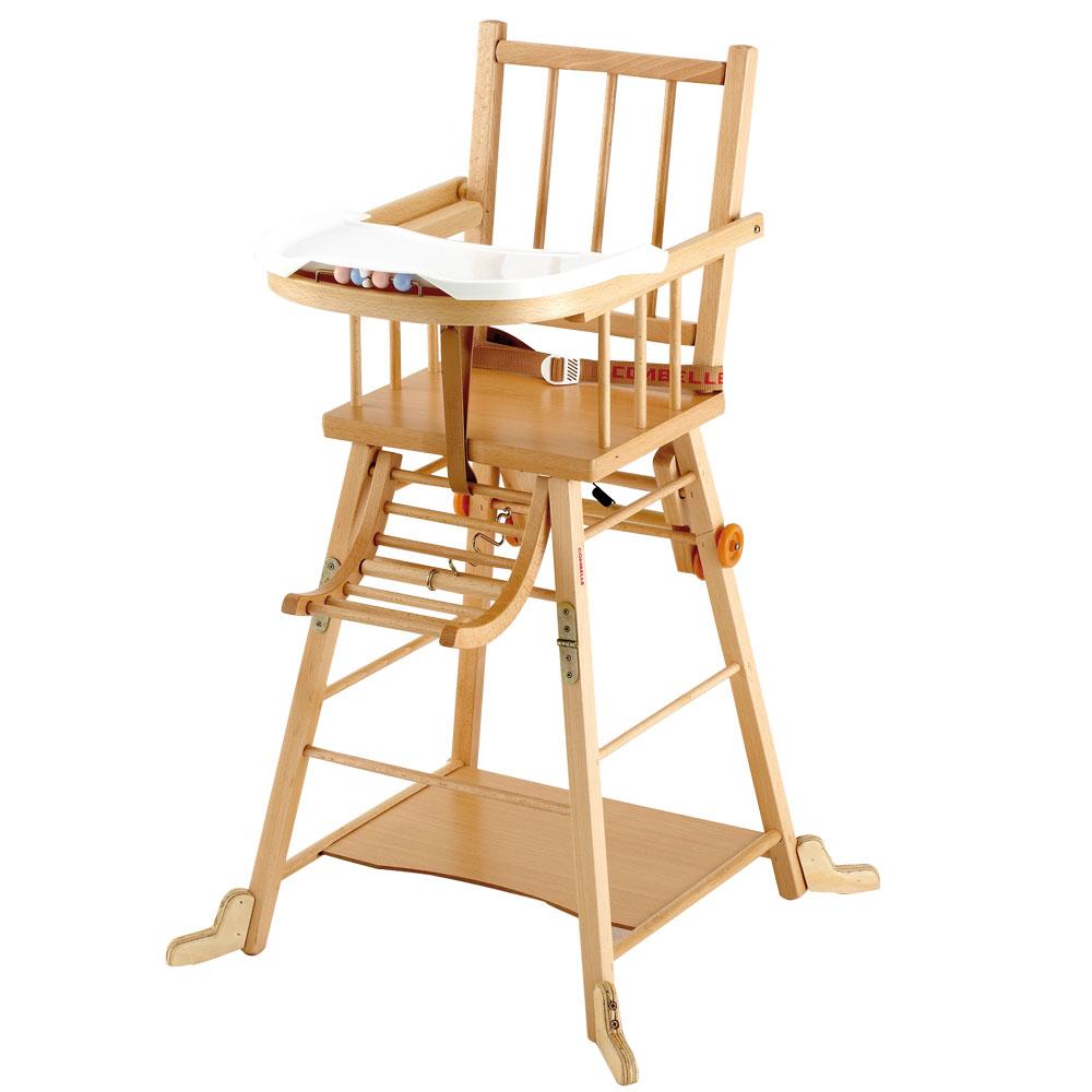 chaise haute bois bébé