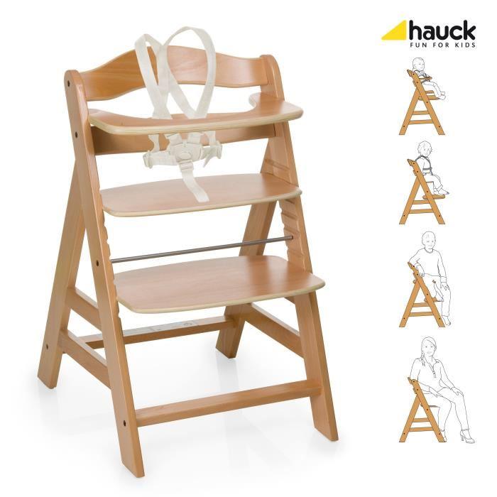 chaise haute bois evolutive