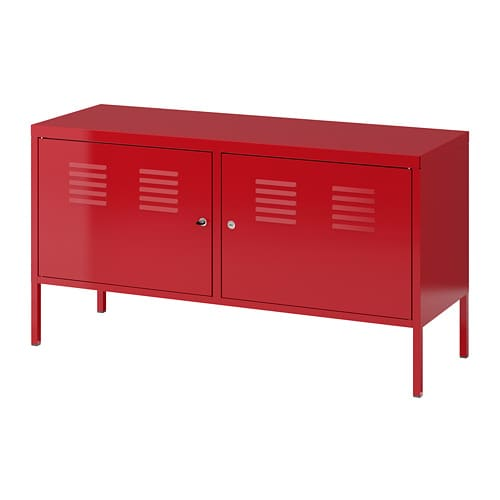 meuble métallique rouge