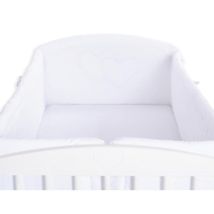 tour de lit blanc